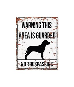 Beware of dog sign: Stafford