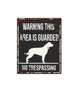 Beware of dog sign: Rottweiler