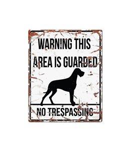 Beware of dog sign: Danish Dog