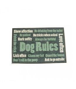 Vloermat Indoor Dog rules