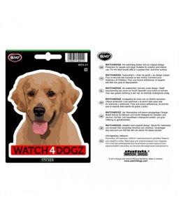 W4d sticker labrador blond