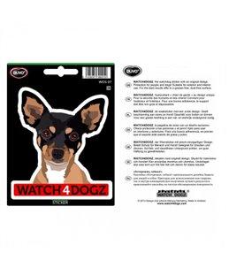 W4d sticker chihuahua