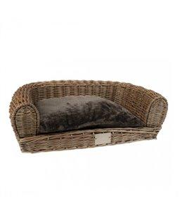 Provence rieten sofa met kussen