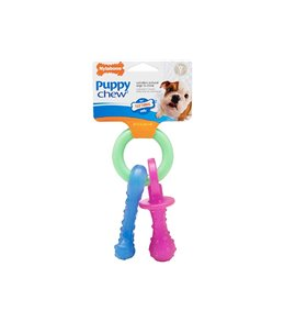 NYLABONE FLEXIBLE PUPPY TEETHING PACIFIER  1