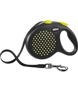 Flexi design band l zwart/geel 5m- 50kg