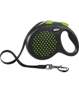 Flexi design band l zwart/groen 5m- 50kg