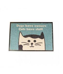 """Vloermat indoor """"cats have staff"""""""