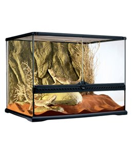 Ex glas terrarium incl achterwand