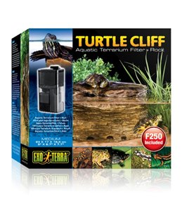Ex turtle cliff terrarium met filter + rots