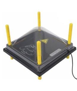 Afdekkap kunststof (PET) voor warmteplaat 25X25cm