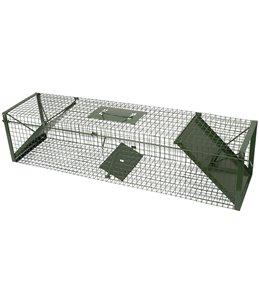 Vangkooi 100x24x24cm, 2 openingen groen