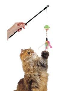 Kattenhengel bal & veren 50cm
