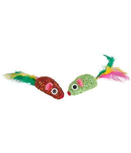 Ps mouse feathers 5 cm - koker