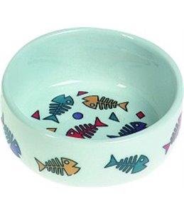 Eetpotje porselein color fish - s