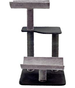 Krabpaal mateo 4 grijs/zwart 57x57x103