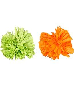 Ps pompon oranje/groen ass