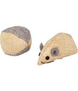 Ps juns muis en bal beige 7,8cm