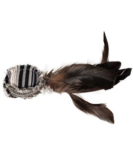 Ps pirin bal met veren zwart/wit