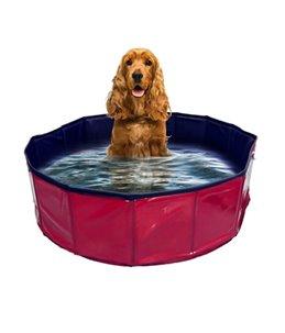 Hondenzwembad - Rood/Blauw - 30 x 30 x 10cm