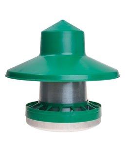 Voersilo 10 kg met regenscherm groen