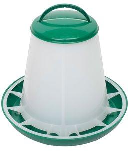 Kunststof voersilo 1kg met deksel groen