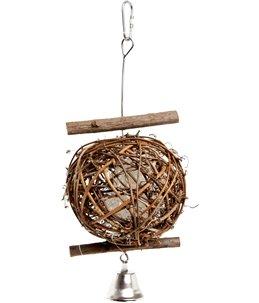 Vogelaccessoire Houten Bal - 10 cm