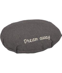 KUSSEN DREAM AWAY OVAAL GRIJS 50x40