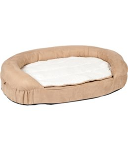 Bed ortho ovaal beige 100x65x24