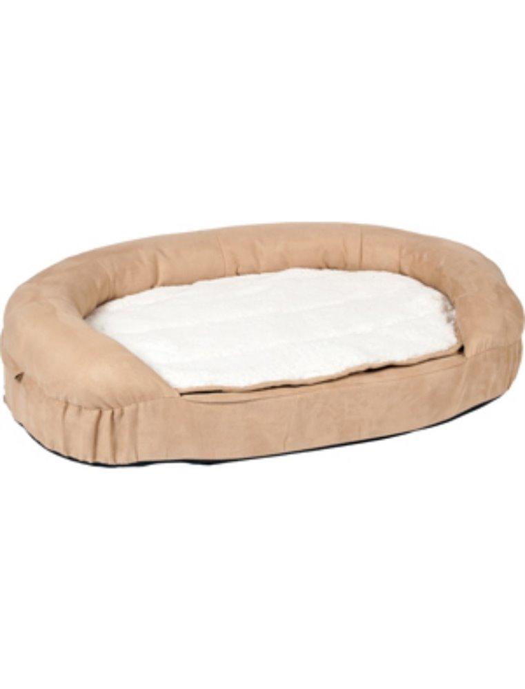 Bed ortho ovaal beige 100x65x24