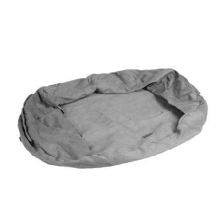 Overtrek ovaal bed orthopedisch grijs 72x50