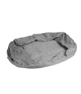 Overtrek ovaal bed orthopedisch grijs 120x72