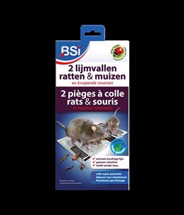 2 lijmvallen voor muizen/ratten