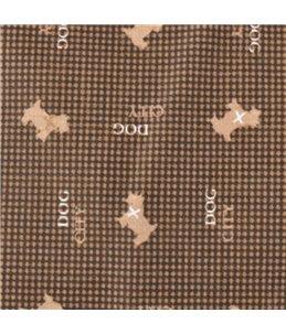 Kussen dogcity rechthoekig+rits bruin 60x45x8cm