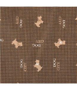 Kussen dogcity rechthoekig+rits bruin 100x65x8cm
