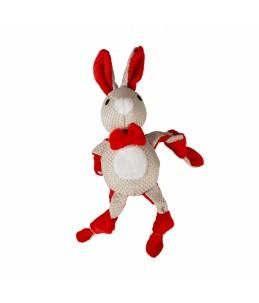 Xmas pluche geknoopt konijn...