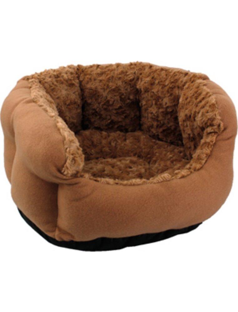 Mand+kussen cuddly achthoekig bruin dia. 45x23cm/8cm