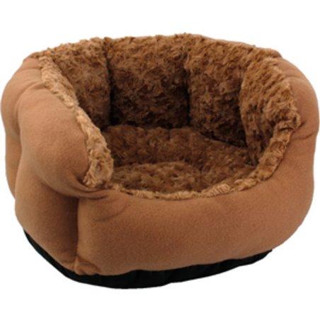 Mand inclusief kussen cuddly achthoekig bruin diameter 45x23cm/8cm