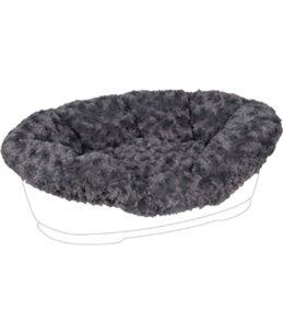 Overtrek pet bed cuddly grijs 80/90cm
