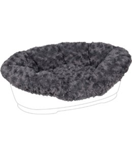 Overtrek pet bed cuddly grijs 95/110cm