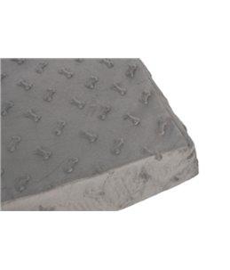 Kussen rechth. 3d bones grijs 60cm