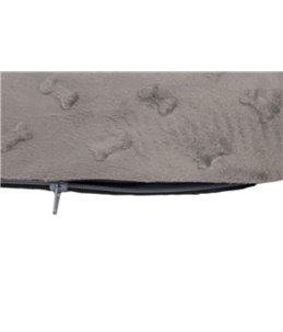 Kussen rechth. 3d bones grijs 80cm