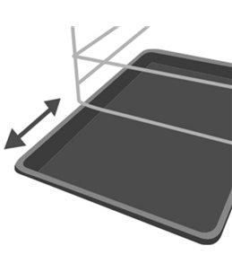 Draadkooi ebo zwart xl 70x109x77cm