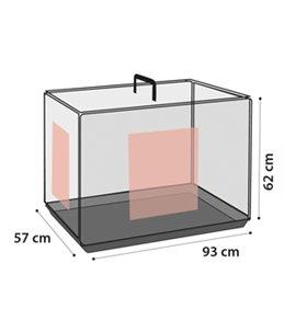 Draadkooi keo zwart l 57x93x62cm