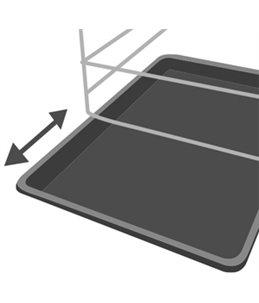 Draadkooi keo zwart xl 70x109x76cm