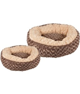 Mand cuddly rond taupe dia. 70x18cm
