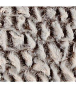 Mand snoozzy rechthoekig grijs/ zwart 65x45x15cm