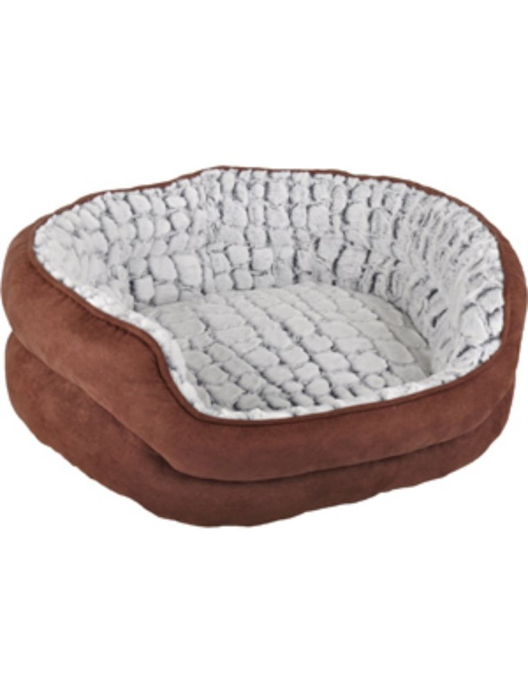 Hondenmand stone suede 45x35x23cm