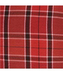Kussen ovaal+rits baird 40cm rood