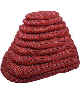 Kussen ovaal+rits baird 80cm rood