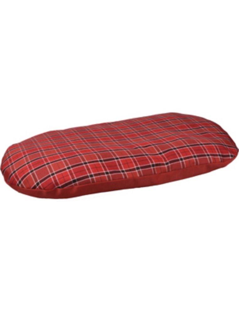 Kussen ovaal+rits baird 110cm rood